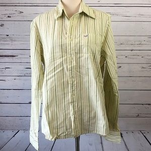 Hollister Stripe Long Sleeve shirt Large Button Up